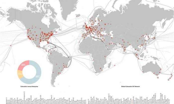 Data centres: global overview. Image: OMA.